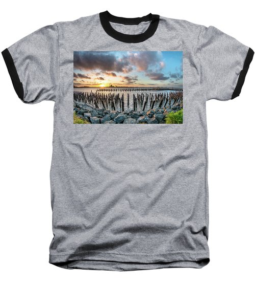 Pylons Mill Sunset Baseball T-Shirt by Greg Nyquist