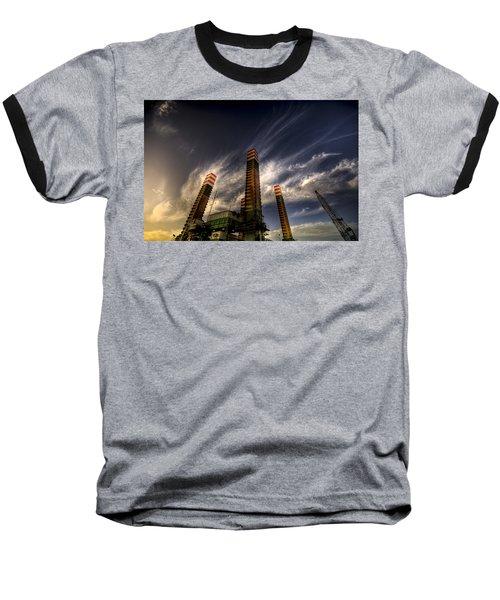 Baseball T-Shirt featuring the photograph Pylons by Wayne Sherriff