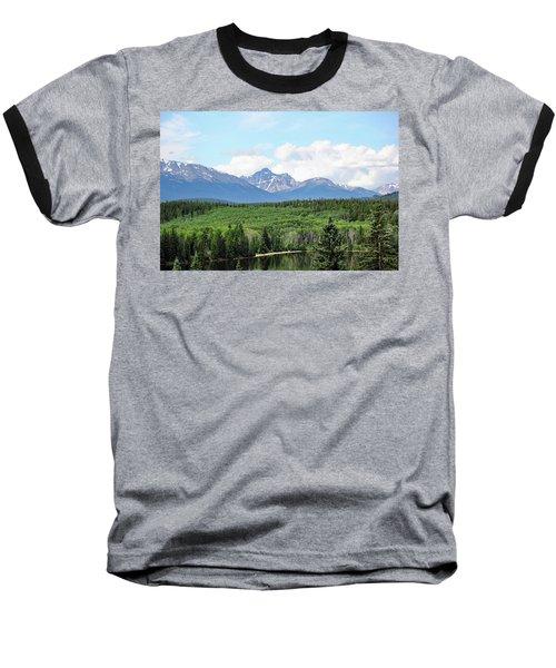 Pyramid Island - Jasper Ab. Baseball T-Shirt by Ryan Crouse