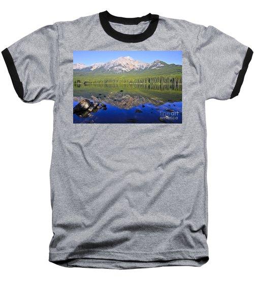Pyramid Lake Reflection Baseball T-Shirt