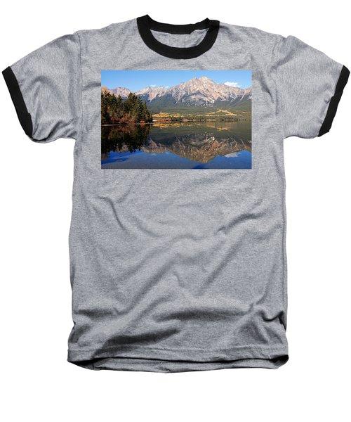Pyramid Mountain And Pyramid Lake 2 Baseball T-Shirt
