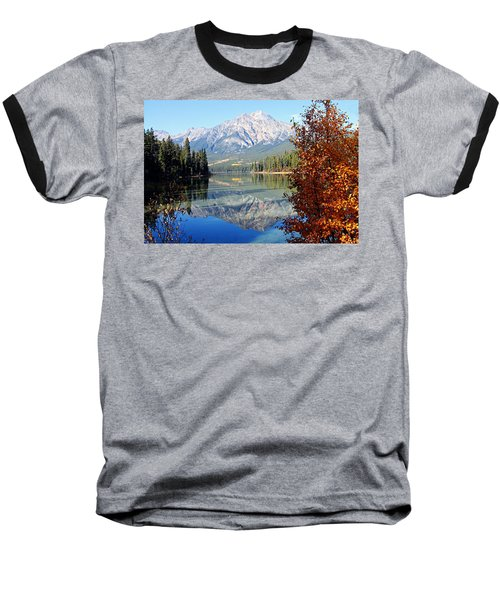 Pyramid Mountain Reflection 3 Baseball T-Shirt
