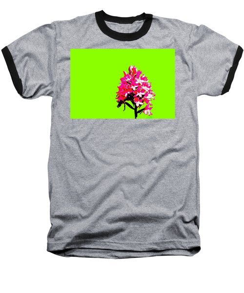 Green Pyramid Orchid Baseball T-Shirt
