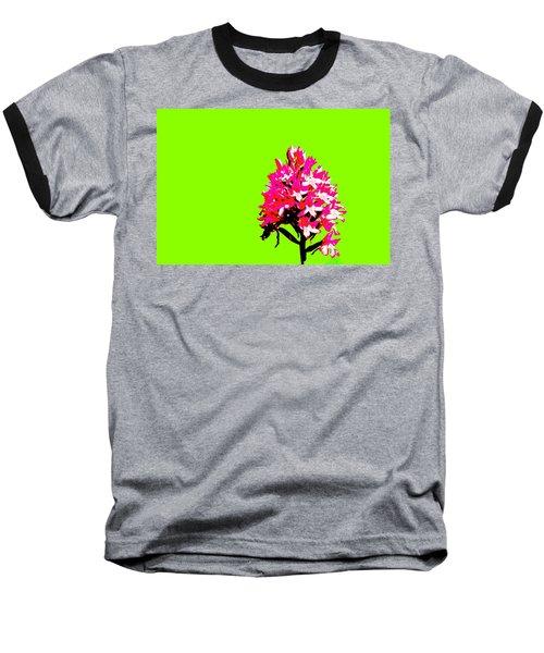 Green Pyramid Orchid Baseball T-Shirt by Richard Patmore