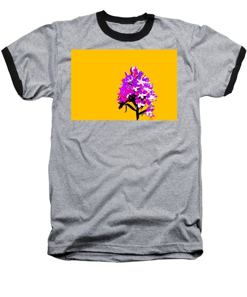 Orange Pyramid Orchid  Baseball T-Shirt