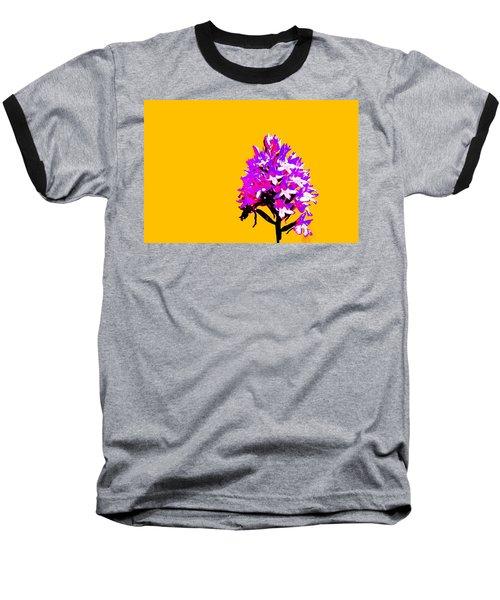 Orange Pyramid Orchid  Baseball T-Shirt by Richard Patmore