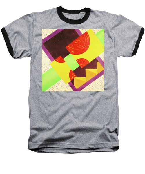 Baseball T-Shirt featuring the painting Pyramids And Pepperoni by Thomas Blood