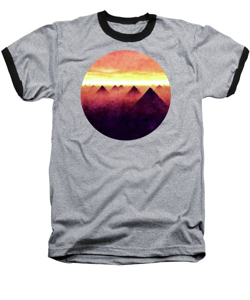 Pyramids At Sunrise Baseball T-Shirt