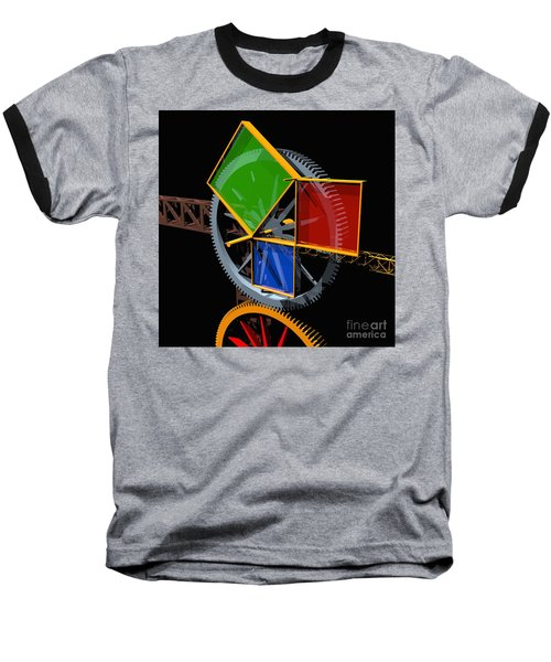 Pythagorean Machine Baseball T-Shirt by Russell Kightley