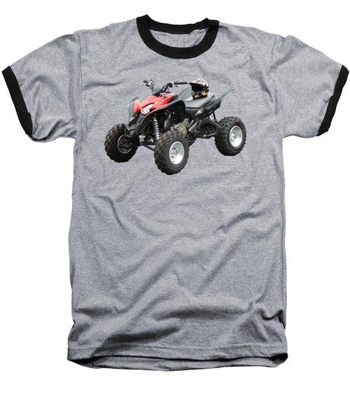 Quad Bike And Helmet Baseball T-Shirt