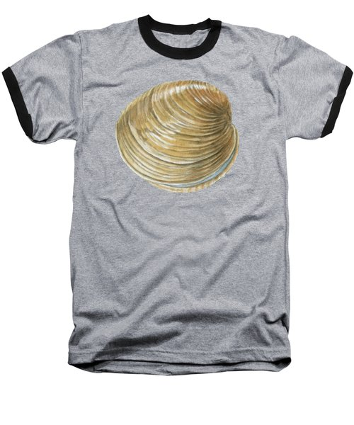 Quahog Shell Baseball T-Shirt