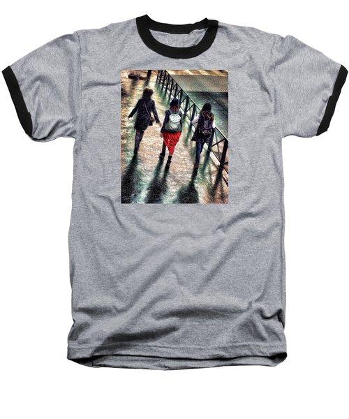 Baseball T-Shirt featuring the photograph Quai Des Tuileries by Jim Hill