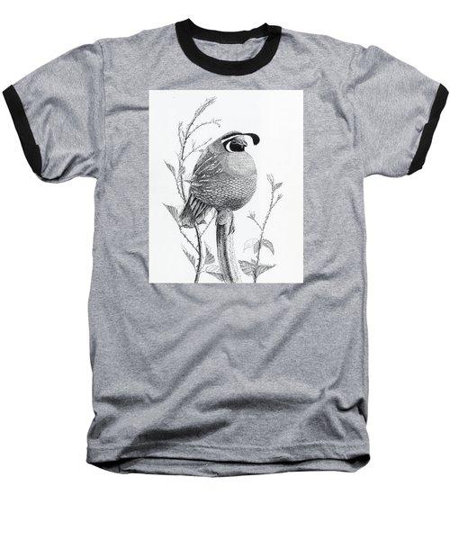 Quail Sentry Baseball T-Shirt
