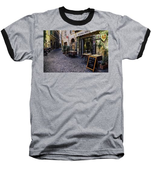 Quaint Cobblestones Streets In Rome, Italy Baseball T-Shirt