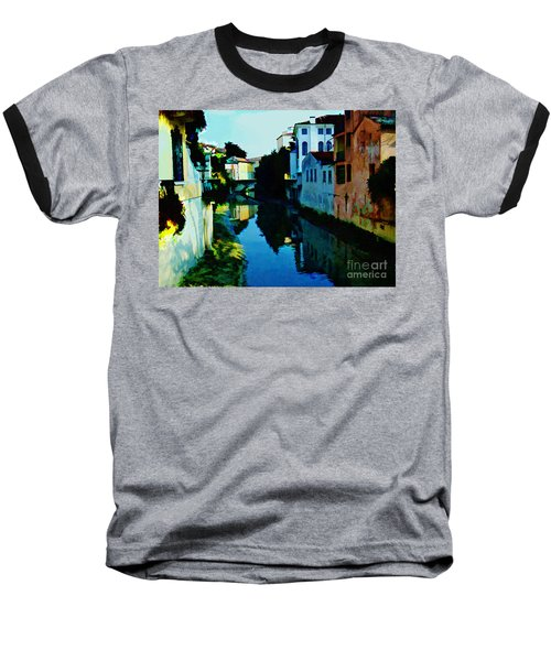 Baseball T-Shirt featuring the photograph Quaint On The Canal by Roberta Byram