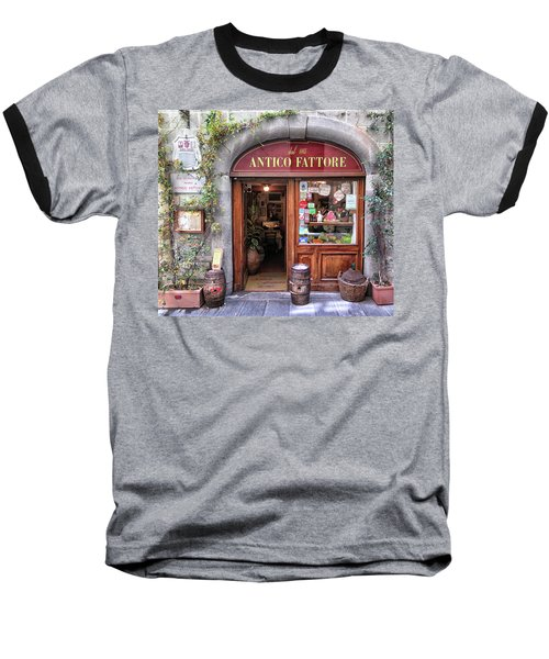 Quaint Restaurant In Florence Baseball T-Shirt by Dave Mills