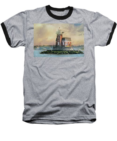 Quaint Stepping Stones Lighthouse Baseball T-Shirt