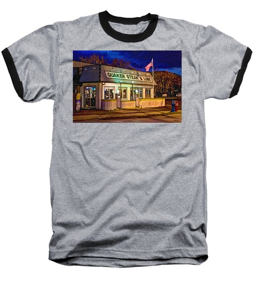 Quaker Steak And Lube Baseball T-Shirt by Skip Tribby