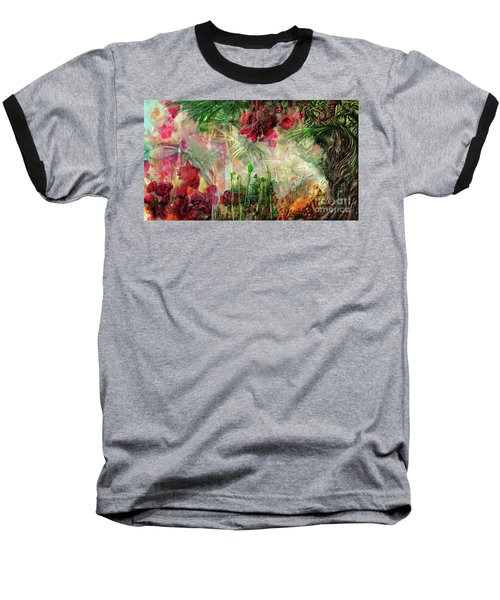 Baseball T-Shirt featuring the digital art Qualia's Jungle by Russell Kightley