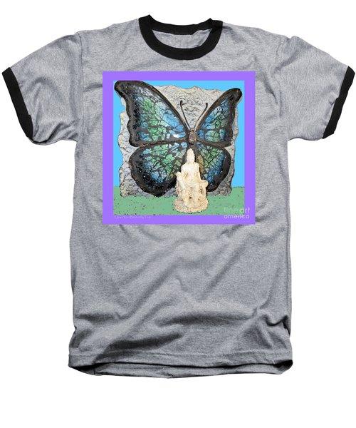 Quan Yin Butterfly Baseball T-Shirt