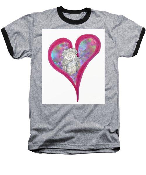 Quan Yin Heart Baseball T-Shirt