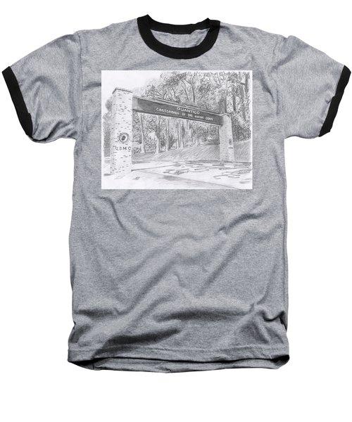 Quantico Welcome Graphite Baseball T-Shirt