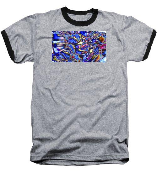 Quantum Entangled Soul... Baseball T-Shirt by Nina Stavlund