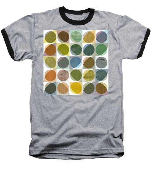 Baseball T-Shirt featuring the digital art Quarter Circles Layer Project Three by Michelle Calkins