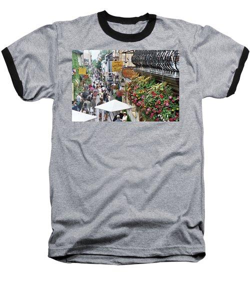 Baseball T-Shirt featuring the photograph Quartier Petit Champlain by John Schneider