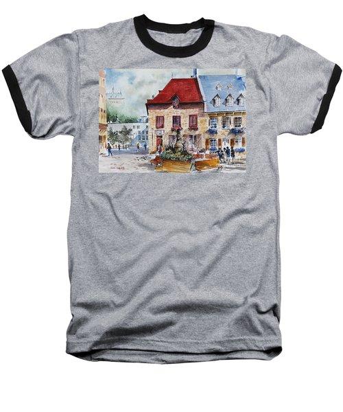 Quebec City Flower Boxes Baseball T-Shirt