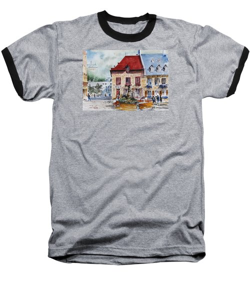 Quebec City Flower Boxes Baseball T-Shirt