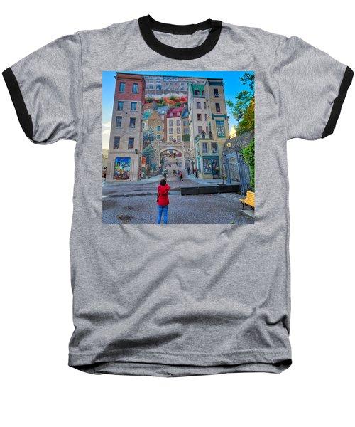 Quebec City Mural Baseball T-Shirt