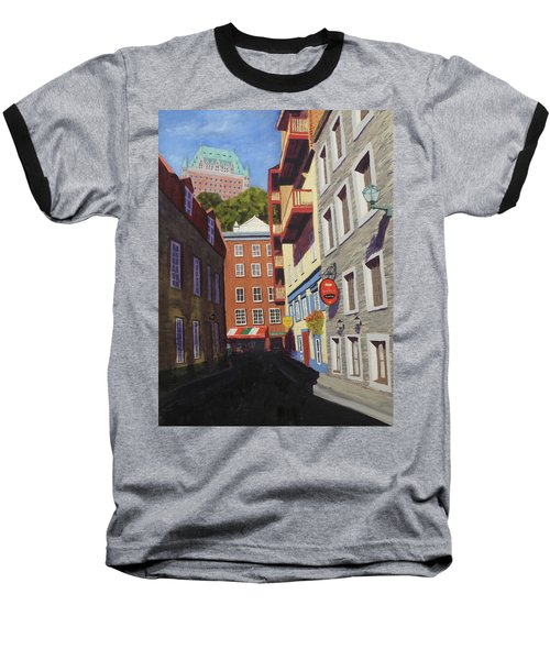 Quebec City Side Street Baseball T-Shirt