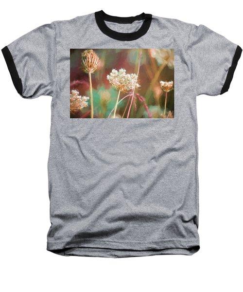 Baseball T-Shirt featuring the digital art Queen Anne Impasto by Bonnie Bruno