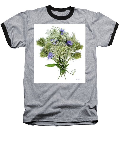 Queen Anne's Lace With Purple Flowers Baseball T-Shirt
