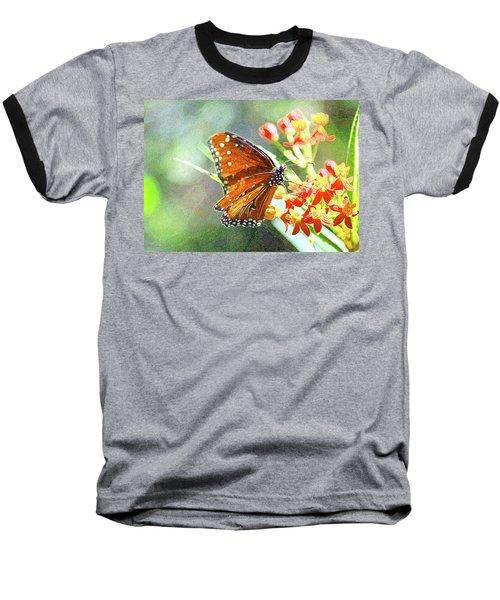 Queen Butterfly Baseball T-Shirt by Inspirational Photo Creations Audrey Woods