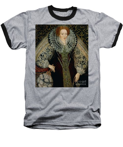 Queen Elizabeth I Baseball T-Shirt by John the Younger Bettes