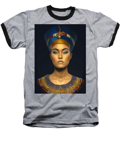 Baseball T-Shirt featuring the digital art Queen Esther by Karen Showell