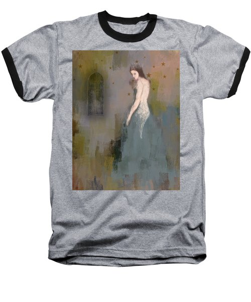 Baseball T-Shirt featuring the digital art Queen by Lisa Noneman