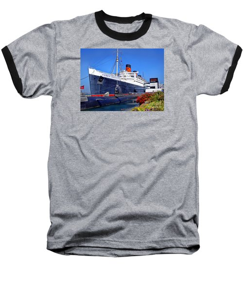 Baseball T-Shirt featuring the photograph Queen Mary Ship by Mariola Bitner