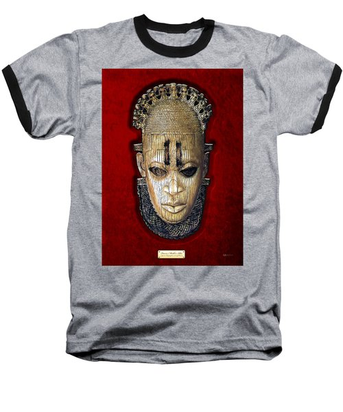 Queen Mother Idia - Ivory Hip Pendant Baseball T-Shirt by Serge Averbukh