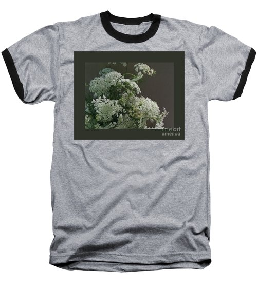 Queen's Bouquet Baseball T-Shirt by Patricia Overmoyer