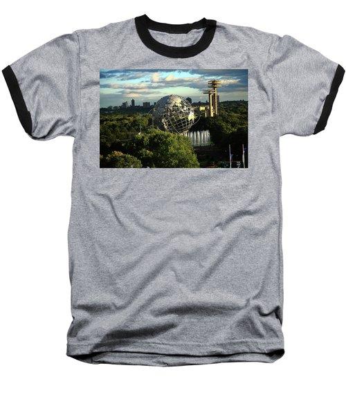 Queens New York City - Unisphere Baseball T-Shirt