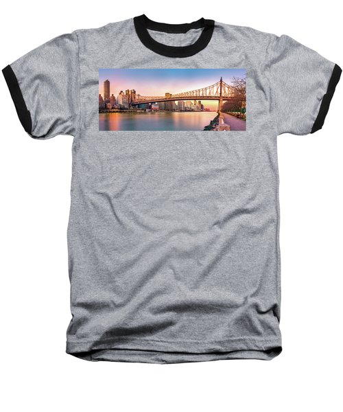 Queensboro Bridge At Sunset Baseball T-Shirt