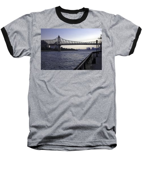 Queensboro Bridge - Manhattan Baseball T-Shirt by Madeline Ellis