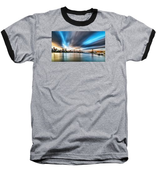 Queensboro Bridge Baseball T-Shirt by Rafael Quirindongo