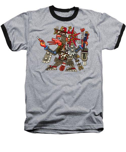 Quetzalcoatl In Human Warrior Form - Codex Borgia Baseball T-Shirt by Serge Averbukh