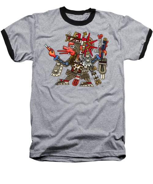 Quetzalcoatl In Human Warrior Form - Codex Borgia Baseball T-Shirt