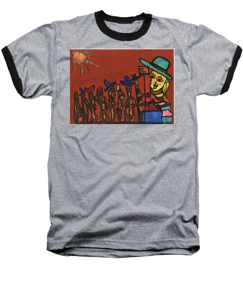 Queuing For Residuals  Baseball T-Shirt by Darrell Black