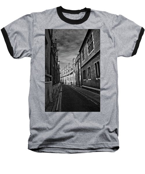 Quiet Alley Cambridge Uk Baseball T-Shirt